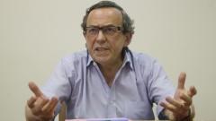 Jean-Yves Mollier em palestra na FFLCH. Ele é pesquisador do Centre d'Histoire Culturelle des Societés Contemporaines, da Universitè de Versailles Saint-Quentin-en-Yvelines. Foto: Marcos Santos / USP Imagens
