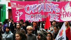 """""""Capitalistas paguem pela crise"""" greve geral 2017 – George Campos / USP Imagens"""