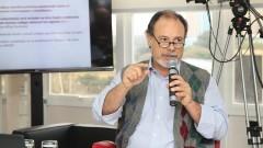 """Debate """"Processo Eleitoral da USP"""". Professor Ciro Teixeira Correia. Foto: Marcos Santos/USP Imagens"""