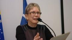 Profª Emma Otta, na abertura de comemoração dos 40 anos do Instituto de Psicologia. Foto: Cecília Bastos/Jornal da USP