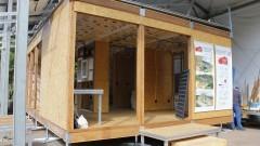 Canteiro experimental do protótipo Ekó House. Foto: Marcos Santos/USP Imagens