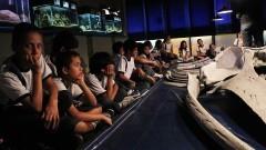 Alunos de escola pública visitam o Museu do IO. Foto:Marcos Santos/USP imagens
