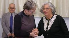 Profª Emma Otta e Profª Ecléa Bosi, na comemoração dos 40 anos do IP/USP. Foto: Cecília Bastos/Jornal da USP