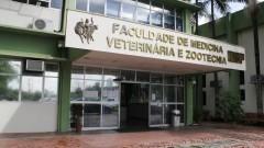 Fachada da Faculdade de Medicina Veterinária e Zootecnia - FMVZ. Foto: Marcos Santos