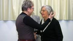 Profª Emma Otta e Profª Ecléa Bosi, na comemoração dos 40 anos do Instituto de Psicologia da USP. Foto: Cecília Bastos/Jornal da USP
