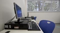 Sala de digitalização da Nova Biblioteca da Faculdade de Educação. Foto: Marcos Santos/USP Imagens