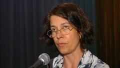 Profª Iara Melo Franco, apresenta o Prof. Pierre Lévy. Foto: Cecília Bastos/Jornal da USP