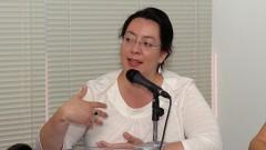 Profª Naxhelli Ruiz, da Universidade Autônoma do México. Foto: Francisco Emolo/Jornal da USP