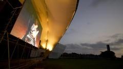 Exibição no telão do debate O nascer no Brasil. Foto: Marcos Santos/USP Imagens