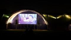 Exibição do filme A hora da Estrela no telão. Foto: Marcos Santos/USP Imagens