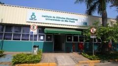 Detalhe para entrada do prédio do Instituto de Ciências Biomédicas III (ICB III). Foto: Marcos Santos / USP Imagens
