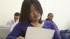 Alunos assistem aula de literatura japonesa na FFLCH. Foto: Marcos Santos/USP Imagens