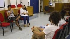 Detalhe de Pedro Luis Macena (Educador Indígena) do CECI (Centro de Educação e Cultura Indígena) e Selma Lenice Gomes (Assistente Social) da comunidade indígena Pancararu. Foto: Marcos Santos / USP Imagens