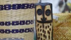Detalhe de uma peça produzida por povos indígenas. Foto: Marcos Santos/USP Imagens