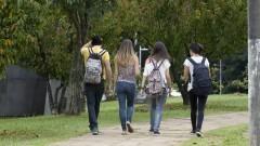 Estudantes caminham no campus da Cidade Universitária, no Butantã. Foto: Marcos Santos/USP Imagens