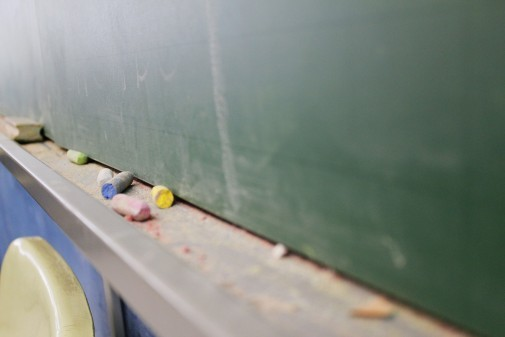 Lousa em sala de aula