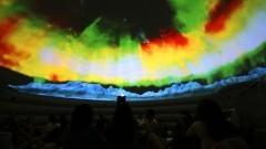 Sessão do Planetário Digital durante a primeira Virada Científica da Universidade. Foto: Marcos Santos / USP Imagens