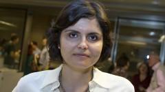 """Roberta Astolfi, uma das organizadoras do livro: """"Tortura na Era dos Direitos Humanos"""" na livraria da EDUSP. Foto: Marcos Santos/USP Imagens"""
