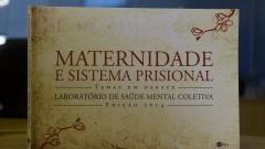 """Capa do livro """"Maternidade e Sistema Prisional : Temas em Debate"""" elaborado pelo Laboratório de Saúde Mental Coletiva da Faculdade de Saúde Pública (FSP). Foto: Marcos Santos/USP Imagens"""