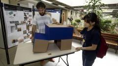 Trabalhos finais MAP2001, da disciplina optativa Projeto 'Matemateca no LAME', no Instituto de Matemática e Estatística (IME). Foto: Marcos Santos/USP Imagens
