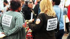 """""""Aqui somos contra a reforma da previdência"""" greve geral 2017 – George Campos / USP Imagens"""