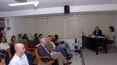 Prof. Wagner Costa Ribeiro do Departamento de Geografia da USP e Profª Ana Fani Alessandri Carlos da USP. Foto: Francisco Emolo/Jornal da USP