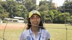 Erika Ruiz Castellanos técnica do Programa FIFA 11 pela Saúde. O projeto foi lançado em 2010, durante a Copa do Mundo na África e, agora ele foi adaptado ao contexto específico do Brasil. Foto: Marcos Santos / USP Imagens