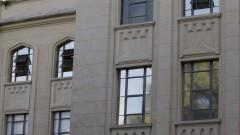 Detalhe das janelas na fachada do prédio da Faculdade de Saúde Pública (FSP). Foto: Marcos Santos / USP Imagens