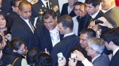 Presidente do Equador Rafael Correa. Foto: Marcos Santos/USP Imagens