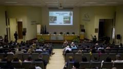 Detalhe de público ouvinte durante discurso do professor Enrico Lippi Ortolani (Diretor da FMVZ na Gestão 2014-2017) na Comemoração dos 95 anos de criação do Curso de Medicina Veterinária e de 80 anos de criação da FMVZ. Foto: Marcos Santos/USP Imagens