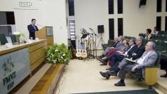 Detalhe de público das primeiras fileiras durante discurso do Professor João Palermo Neto na Comemoração dos 95 anos de criação do Curso de Medicina Veterinária e de 80 anos de criação da FMVZ. Foto: Marcos Santos/USP Imagens