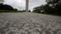 Novo pavimento da Praça do Relógio. Foto: Marcos Santos/USP Imagens