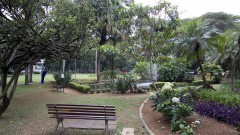 Jardim da Faculdade de Saúde Pública. Foto: Marcos Santos/USP Imagens