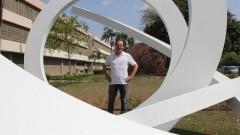 Antonio Wagner Coraça aluno de Artes Visuais. Foto: Marcos Santos/USP Imagens