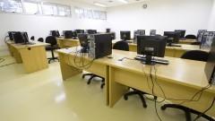 Sala com computadores nas novas dependências do Arquivo Geral. Foto: Marcos Santos/USP Imagens