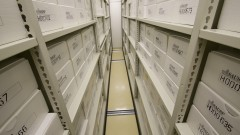 Documentos arquivados no Arquivo Geral. Foto: Marcos Santos/USP Imagens