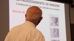 Palestra: Uso do Computador na Arte. Professor Giorgio Moscati. Foto: Marcos Santos/USP Imagens