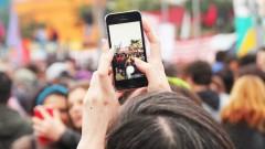 Manifestantes tiram fotos no evento greve geral 2017 – George Campos / USP Imagens