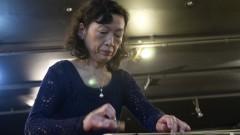 Tomoko Abe durante apresentação no Recital de Música tradicional japonesa. Foto: Marcos Santos/USP Imagens