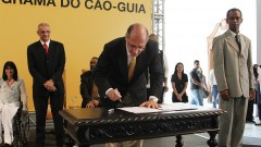 Lançamento do Programa Cão-Guia. Foto:Marcos Santos/USP Imagens