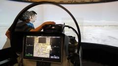 Simulador F/A - 18F Super Hornet. Foto: Marcos Santos/USP Imagens