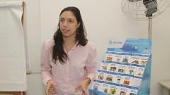 Fabiana Grieco, pesquisadora associada do Coletivo Escola do Futuro fala das atividades e pesquisas do Núcleo de Apoio à Pesquisa (NAP). Foto: Marcos Santos / USP Imagens