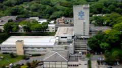 Imagem aérea do Instituto de Física (IF) em 2007, no Campus da Capital (Cidade Universitária Armando de Salles Oliveira), em São Paulo - Capital. Foto: Jorge Maruta / Jornal da USP