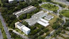 Imagem aérea do Instituto de Matemática e Estatística (IME) em 2007, no Campus da Capital (Cidade Universitária Armando de Salles Oliveira), em São Paulo - Capital. Foto: Jorge Maruta / Jornal da USP
