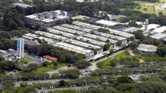 Imagem aérea do Instituto de Química (IQ) em 2007, no Campus da Capital (Cidade Universitária Armando de Salles Oliveira), em São Paulo - Capital. Foto: Jorge Maruta / Jornal da USP