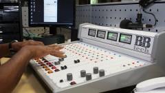 Mesa de som da Rádio USP, veículo da Coordenadoria de Comunicação Social da USP (CCS - USP) na Cidade Universitária em São Paulo. Foto: Marcos Santos.