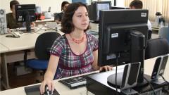 Jornalistas na redação do USP Online, setor responsável pelo portal acadêmico da USP, e veiculo da Coordenadoria de Comunicação Social da USP, na Cidade Universitária em São Paulo. Foto: Marcos Santos.