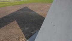 Detalhe da sombra do Relógio Solar localizado no campus da capital. Foto: Marcos Santos.