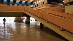Saguão do prédio do Departamento de História e Geografia na Faculdade de Filosofia, Letras e Ciências Humanas (FFLCH - USP), no campus da Cidade Universitária em São Paulo. Foto: Marcos Santos.