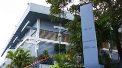 """Fachada do Conjunto Esportivo """"Prof. Dr. Diógenes de Abreu"""", do campus da USP em Bauru, interior de São Paulo. Foto: Marcos Santos."""